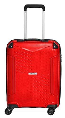 Packenger Bordcase - Silent - (M), Rot, 4 Zwillingsrollen, 33 Liter, 2,9Kg, Koffer mit TSA-Schloss, Polypropylen, Trolley