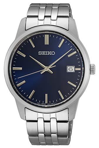 Seiko Herren Analog Quarz Uhr mit Metall Armband SUR399P1