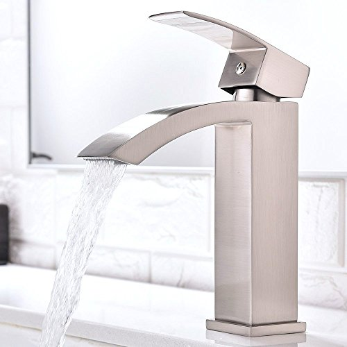Best Prices! Friho Single Handle Waterfall Bathroom Vanity Sink Faucet with Extra Large Rectangular ...