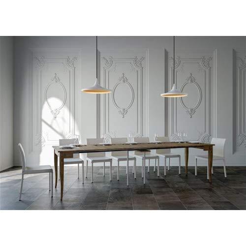 Group Design Tavolo Consolle Allungabile Made in Italy Sciabola Noce Anticato Classica 14 Posti