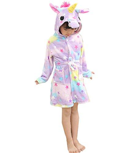 Z-Chen Bata para niños - Forma de Unicornio, Estrella, 2-3