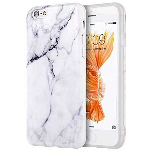"Compatible with iPhone 6S Case, Insten [Marble Pattern] Ultra Slim Lightwight Soft TPU Rubber Candy Skin Anti Slip Case Cover Compatible with Apple iPhone 6/ 6S (4.7""), White"