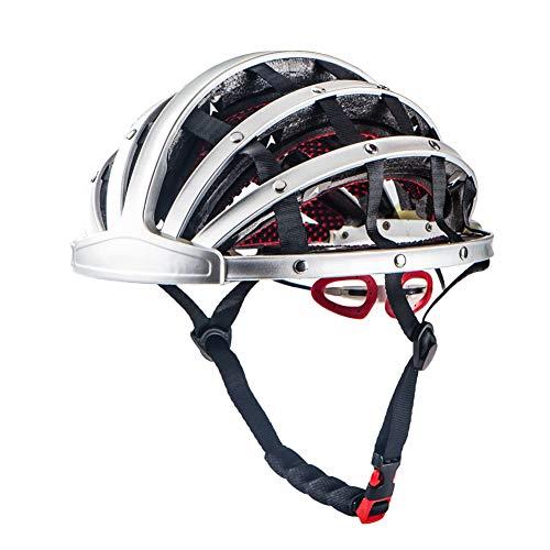 FENGE Opvouwbare Fietshelm Heren Fiets Helmen Ultralight Fietshelm Road Mountainbike Helmen voor Vrouwen met 30 Air Vents Lichtgewicht, Zilver