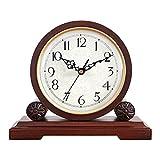 HDGFYTOR Relojes De Chimenea, Silencioso Operado, Reloj De Escritorio De Madera para Sala De Estar, Chimenea, Oficina, Cocina, Estante Y Hogar Dcor Regalo
