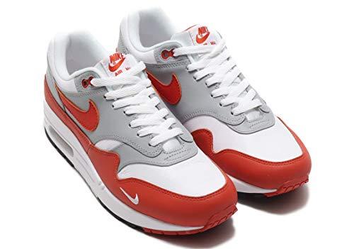 Nike Air MAX 1 LV8, Zapatillas para Correr Hombre, White Martian Sunrise Wolf Grey Black, 44.5 EU
