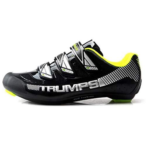 wthfwm Zapatillas de Ciclismo para Hombre, Zapatillas ultraligeras Transpirables y autocierre, Zapatillas...