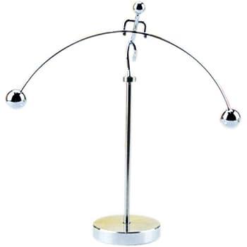 Olive-G やじろべい 片足 ロング 台座 科学 おもちゃ 揺れる スイング テーブル モビール 部屋 ステンレス インテリア