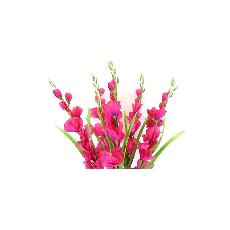 "silk flower arrangements gladiolus bush artificial silk flowers 26"" bouquet 5-5971 beauty"