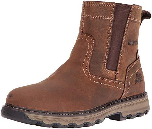 Caterpillar Men's Pelton Industrial & Construction Shoe, Dark Beige, 10 M US
