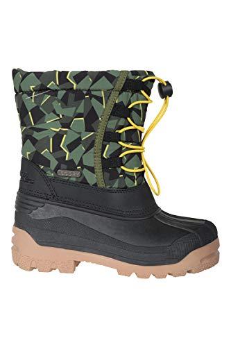 Mountain Warehouse Colorado Kinder-Schneeboots - schneedichte Winterschuhe für Mädchen und Jungen, elastische Schuhbänder,Camouflage-Oberdruck Camouflage 35