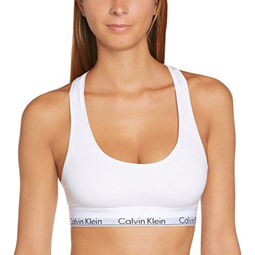 Calvin Klein 0000F3785E, Sujetador Deportivo para Mujer, Blanco (White 100), S