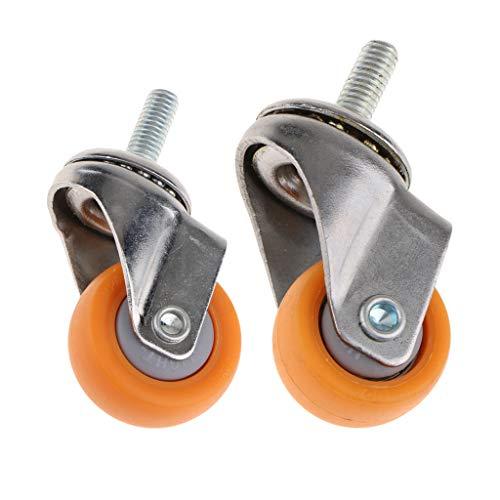 Milageto 2x Hochleistungs Lenkrollen Nylon Vorbauwagen Trolley Caster Möbel