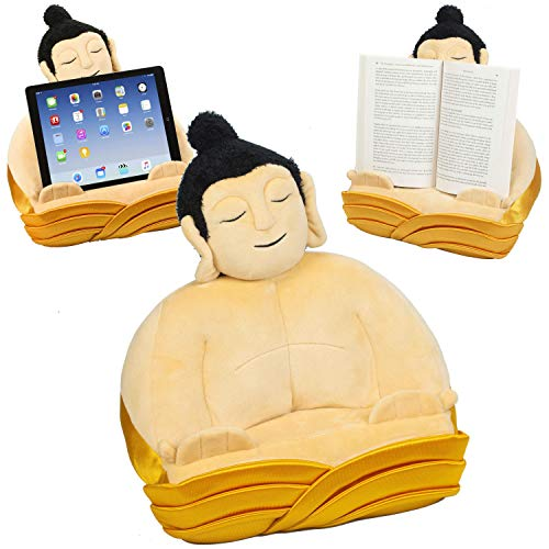 BookBuddha Book Stand iPad Tablet eReader Lap Pillow Holder Reading Rest Travel Gift