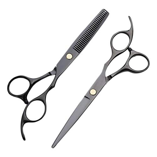 ZMK-720 Set de tijeras de peluquería 2pcs del corte de pelo de peluquería establece kit de corte de pelo de peluquería adelgazamiento o en el hogar adecuado for las mujeres y los niños de sexo masculi