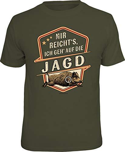 Männer Geschenk T-Shirt für Jäger: Mir reicht's-Ich GEH' auf die Jagd