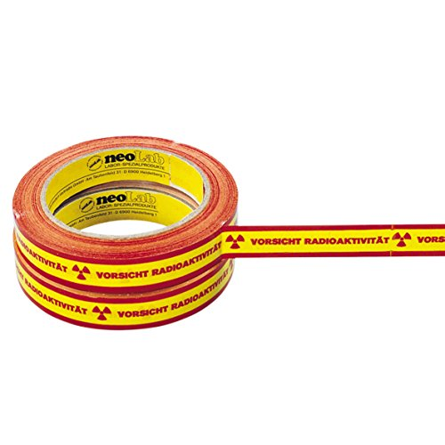 neolab 1–7500Advertencia de cinta adhesiva con texto Vorsicht Radio Actividad, 66m/rollo