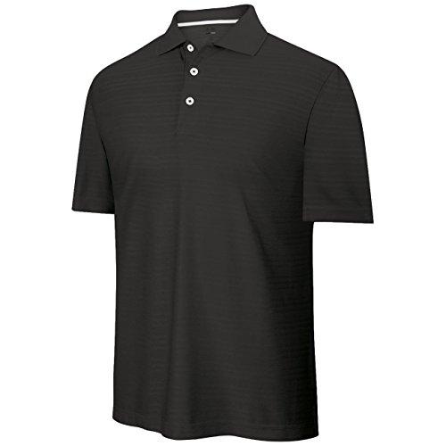 Adidas - Polo Golf pour Hommes Extensible - M, Noir