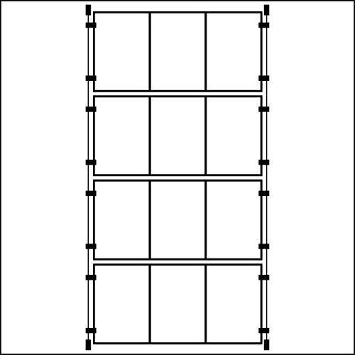 Espositori Da Vetrina Con 3 Tasche Verticali In Formato A4, Con Supporto A Filo, 4 Pezzi
