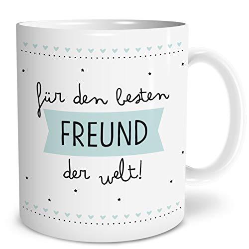 OWLBOOK Bester Freund Große Kaffee-Tasse mit Spruch im Geschenkkarton Geschenke Geschenkideen für den besten Freund zum Geburtstag Weihnachten