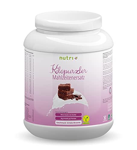 Chocolate Brownie Kilopurzler DIÄTSHAKE - 20 Shakes / 1kg Pulver - Veganer Mahlzeitenersatz ohne Laktose und Aspartam - Pflanzliche Vitalkost 1000g Schoko Geschmack