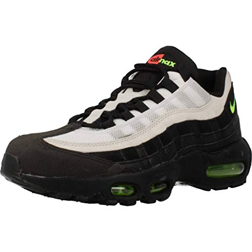 Nike Air Max 95 Essential, Chaussures de Running Mixte, Noir (Black/Electric Green/Platinum Tint 004), 42 EU