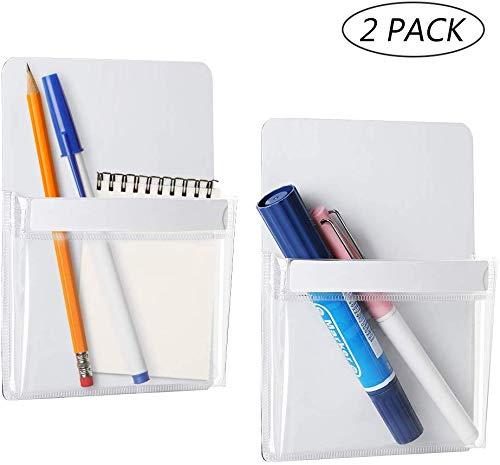 LIANTRAL Magnetischer Stifthalter Aufbewahrungstasche Geeignet für Kühlschrank, Büroschrank, Magnettafel, Schließfächer und alle anderen magnetischen Oberflächen, 2 Stück