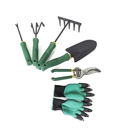 Zes wieden gereedschappen voor gardening troffel teelt snoeischaar transplantatie essentieel instrument,Green