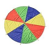Kids Play Parachute Multicolore Jeu Tente avec Poignées pour Enfants Jouer à L'intérieur Activité De Plein Air (1,1 M, 2m, 3m, 3,6 M, 4 M, 5 M, 6m, 7m, 8m),3.6M