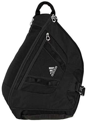 adidas Unisex Capital II Sling Backpack, Black/Grey, ONE SIZE