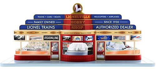 Lionel 685294 Plug-Expand-Play Lionelville Hobby Shop, Blue, Red, Tan, Orange,; O Gauge