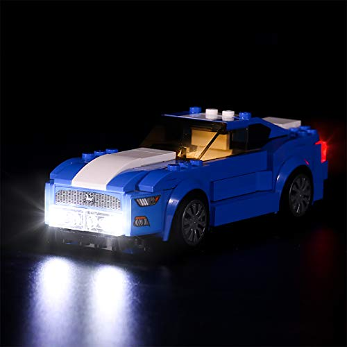 Mecotecn Kit de iluminación LED para Lego Speed Champions 75871 – Ford Mustang GT (modelo Lego no incluido)