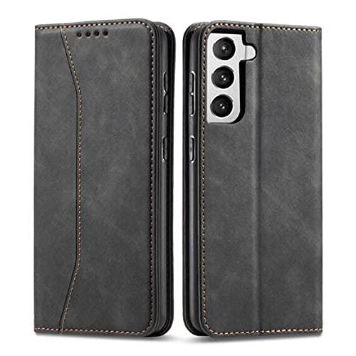 LWCX Funda con Tapa de Cuero Fit For Samsung Galaxy A50 A70 A21S A31 A51 A71 A32 A52 A72 S20 S21 S10 S9 S8 Cartera de Lujo Tarjetas Bolsas para teléfono Funda para teléfono(Color:A52 5G)