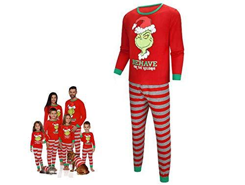 CNQXG Christmas Family Clothes Grinch Pijamas Pajamas Navidad Familia Hombre Mujer,Pijamas Navidenios Familiars 2020