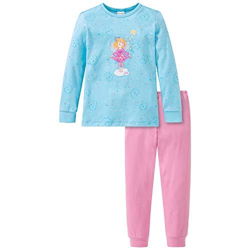 Schiesser Mädchen Prinzessin Lillifee Md Schlafanzug lang Pyjamaset, türkis, 116