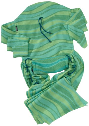 Product Image of the DIDYMOS Meh-Dai/Mei Tai (DidyTai) Baby Carrier Waves Lime (Organic Cotton), One...