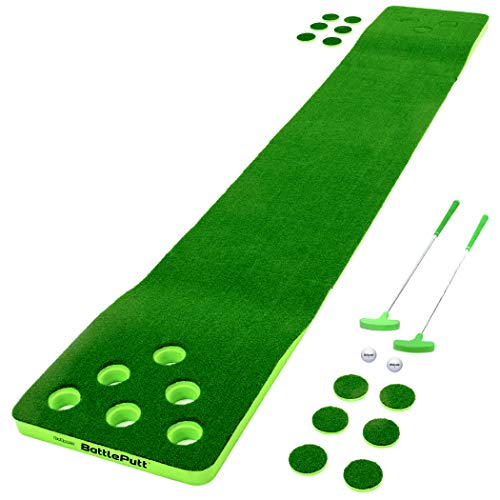 GoSports Battleputt Golf Putting Game, 2-on-2 Pong Style Play with 11' Putting Green, 2 Putters and 2 Golf Balls