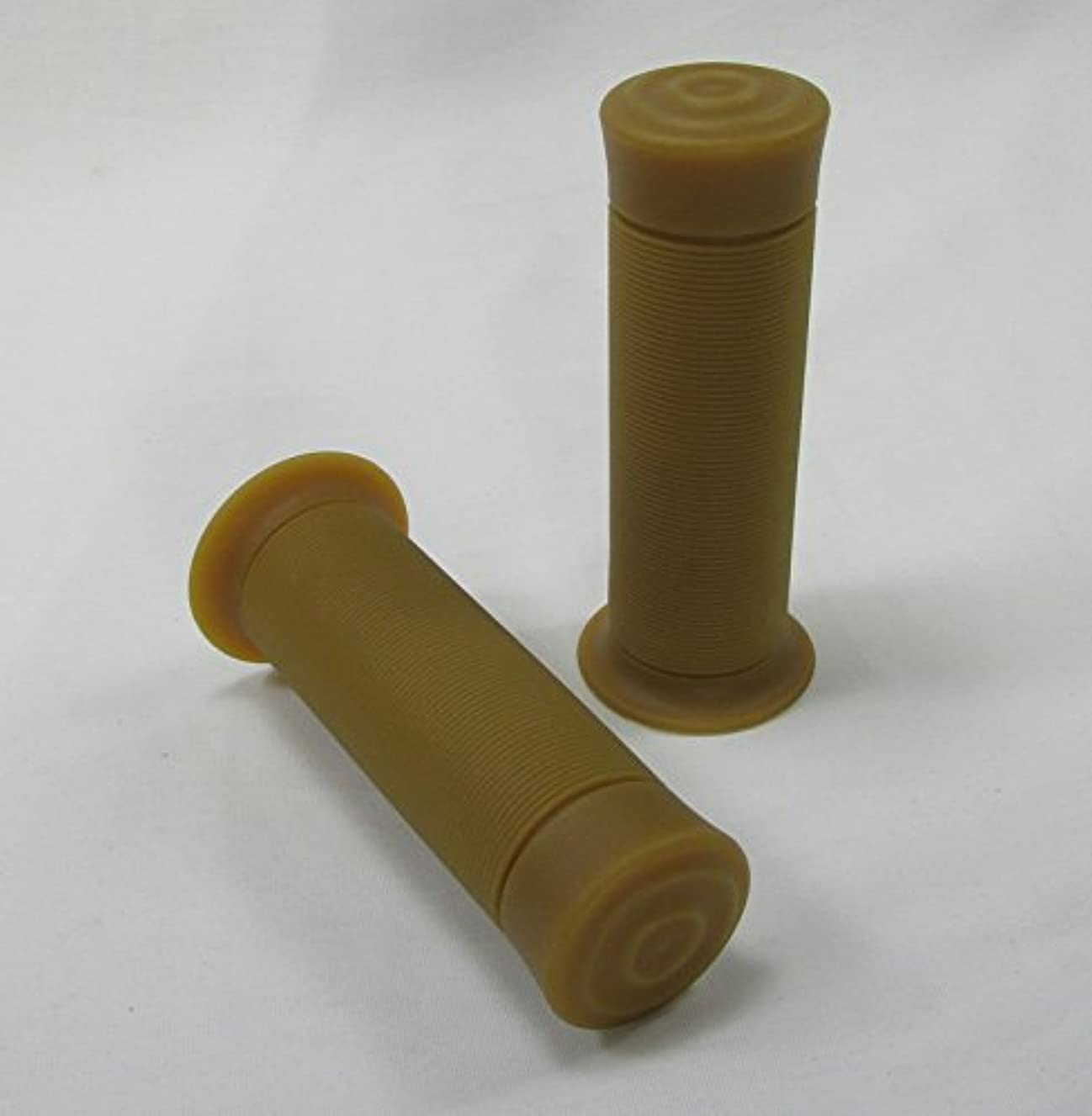 BMX Moto Style Grips - Natural Gum Rubber Tan Brown (NOT BILTWELL BRAND) - For 1