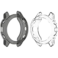 RuenTech - Carcasa para Garmin Fenix 6 Pro Saphir Sapphire (TPU, Protector de Pantalla)