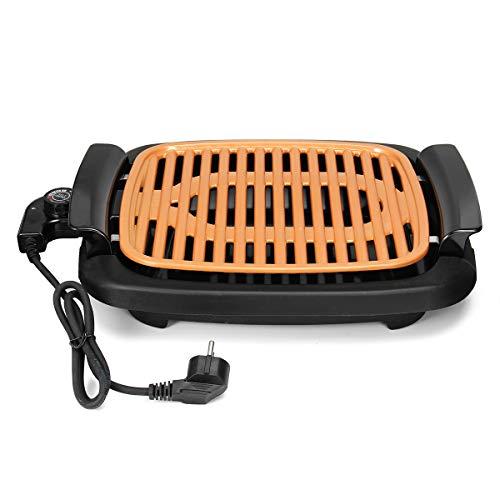 WE HOUSEWARE - Parrilla sin humos de cobre, muy resistente, barbacoa eléctrica antiadherente fácil de limpiar, plancha con termostato ajustable - 3672