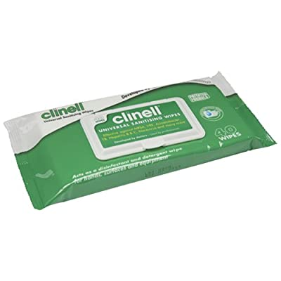 Genuine 1x Clinell Universal Wipes 40 Sanitiser Wash Cleaning - Part Number W. by