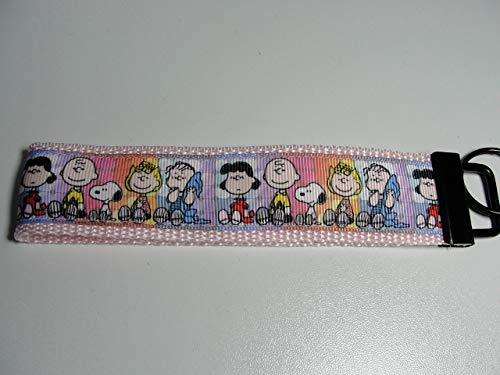 Peanuts Gang Snoopy Lucy Charlie Brown Linus Sally Keyfob Strap or Keychain - Purse or Wallet Strap Wristlet