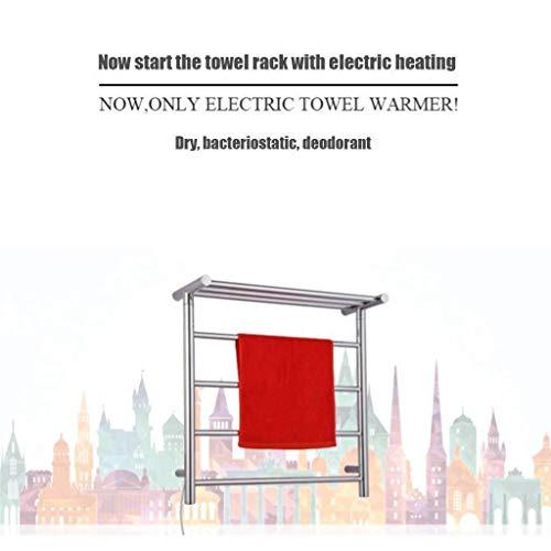 CS-LJ Toalla eléctricamente climatizada Dry Rack Antibacterial Desodorante secador de Ropa de la suspensión automática de termostato secador de Ropa del Estante (Size : Left Exit)