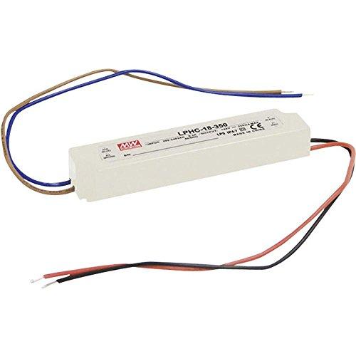 Driver LED Mean Well 18 W 6 - 48 V/DC 350 mA Bloc d'alimentation à encastrer