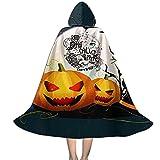 YRUI Re-Dho-T Chili Pe-Ppers - Capa con capucha para niños, disfraz de Halloween, color negro