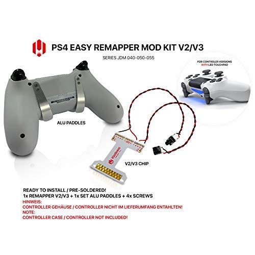 Mando para PS4 Remap Board V3 de Easy Remapper. Almohadillas de aluminio delgadas JDM 040 050 055
