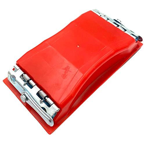 Handschleifer 165x87mm Schleifklotz | Mit Klemmen für Schleifpapier & Schaumstoff Auflage | Ideal für Schleifpapier 23x9,1cm
