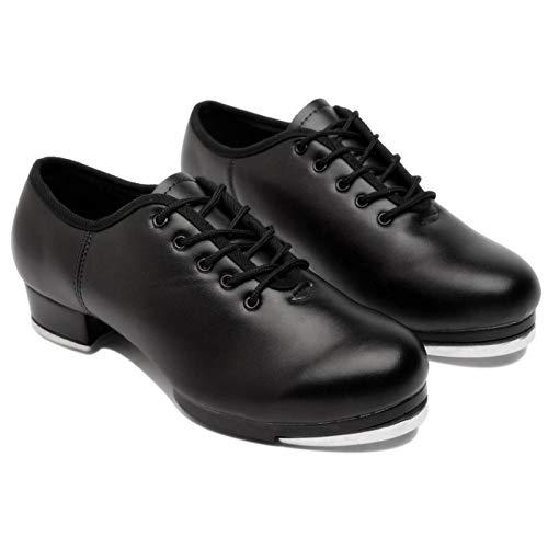 Bulary Frauen Split Sole Jazz Stepptanz Schuhe Leder Material Steppschuhe Erwachsene/Unisex Lace Up Frauen Steppschuhe Tanzschuhe Für Frauen Damen Mädchen