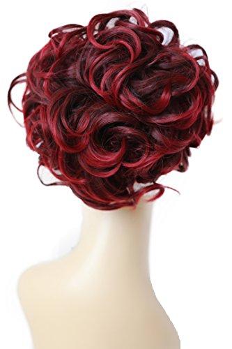 PRETTYSHOP Dutt Haarteil Zopf Haarknoten Hepburn-Dutt Haargummi Hochsteckfrisuren rotmix HK113