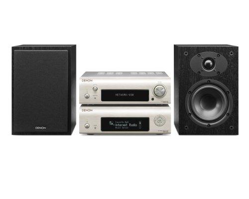 Denon D-F109N Stereo Kompaktanlage (2x 65 Watt, Internetradio, DLNA, AirPlay, UKW, App Steuerung) premium silber/schwarz