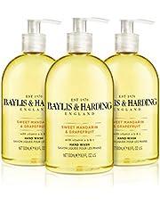Baylis & Harding - zoete mandrin en grapefruit handwas, 3-pack (3 x 500 ml), (verpakking kan variëren)